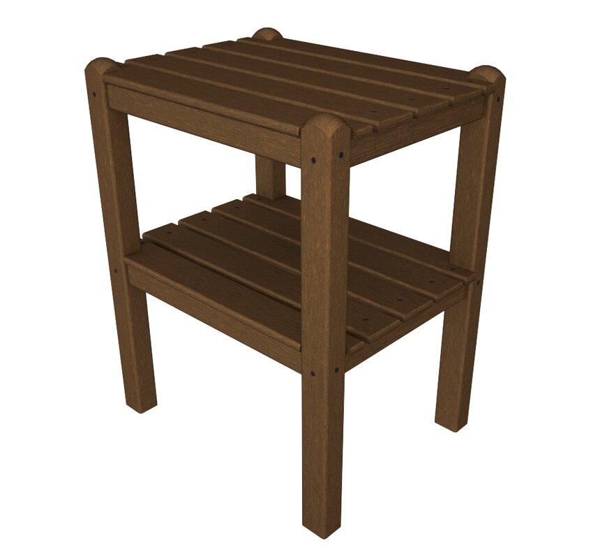 Polywood 174 12 Shelf Side Table Amp Reviews Wayfair