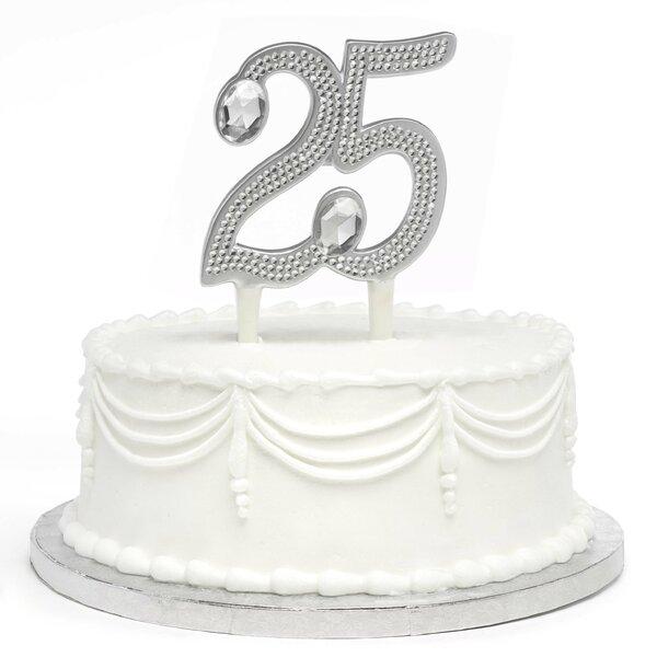 Gilded 25th Anniversary Cake Topper by Hortense B Hewitt