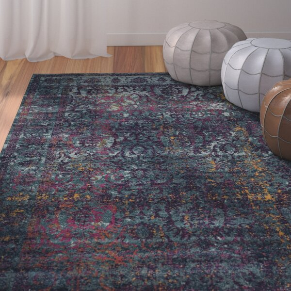 Sariya Blue/Yellow Area Rug by Bungalow Rose