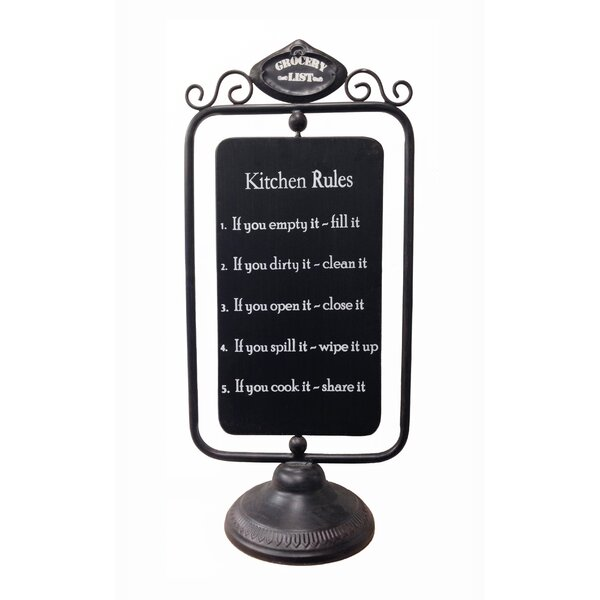 Metal Revolving Tabletop Chalkboard by Wilco Home