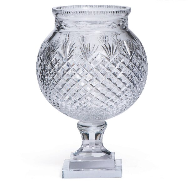 Trumpet Clear Glass Vase by Bay Isle Home