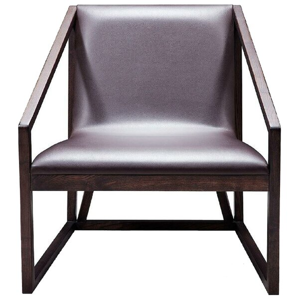 Lourdes Leatherette Upholstered Wooden Lounge Chair by Corrigan Studio