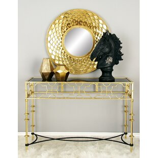 Metal Glass Console Table