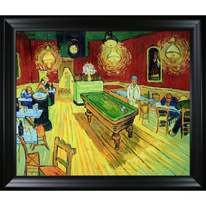 Cafe Terrace at Night by Vincent Van Gogh Framed Painting by Tori Home