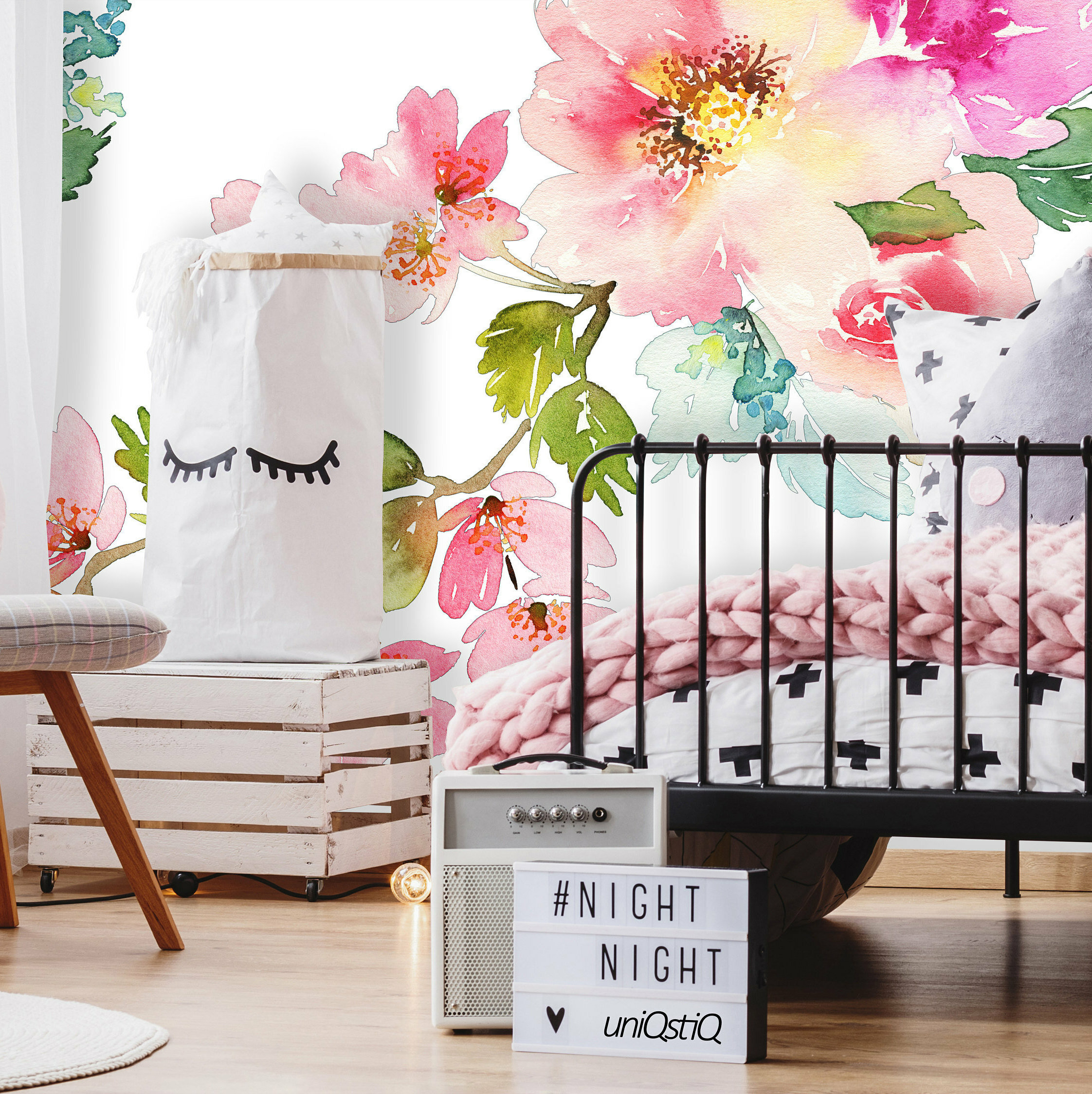 House Of Hampton Noe Removable Nursery Spring Floral 10 L X 120