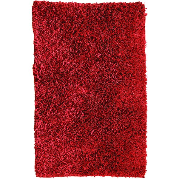 Cozy Hand-Woven Red Area Rug by Affinity Linens