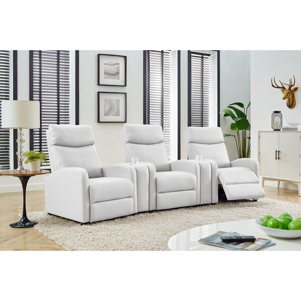 Manual Recliner Home Theater Row Seating (Row Of 3) By Latitude Run