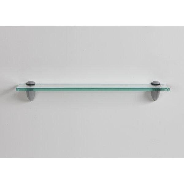 Aubin Glass Bracket Wall Shelf by Orren Ellis
