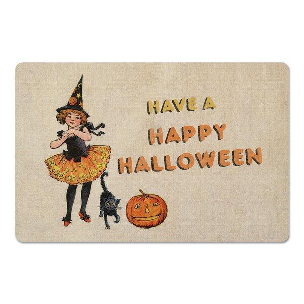 Cavelier Happy Halloween Tutu Witch Girl Kitchen Mat