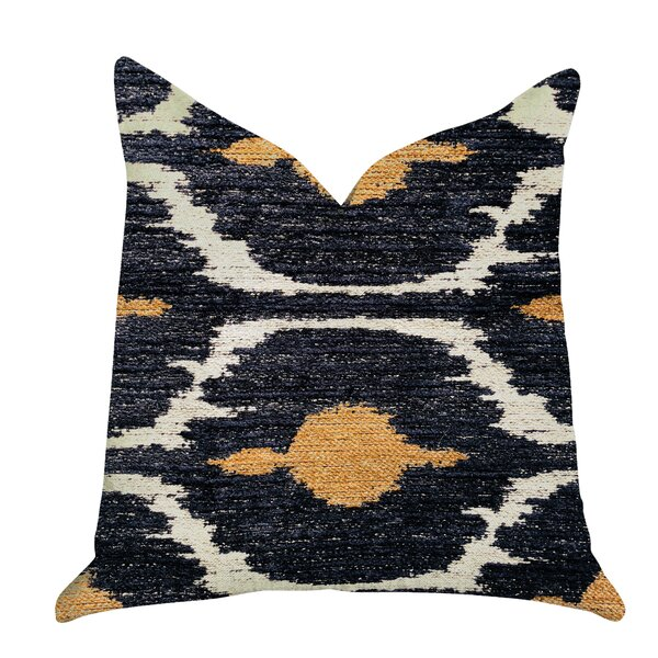 Redman Ikat Luxury Pillow by Bungalow Rose