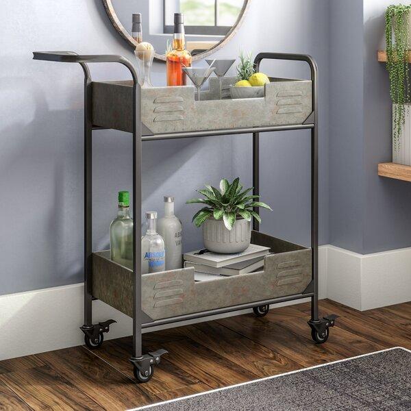Myrtie Metal Frame Bar Cart by Williston Forge