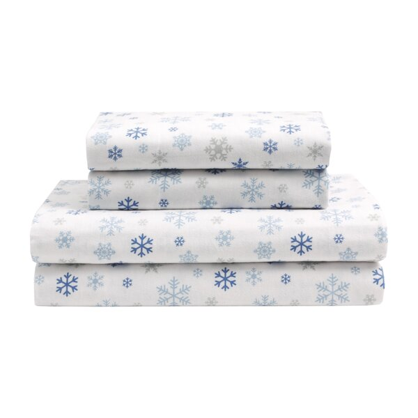 Eva Cotton Flannel Sheet Set by The Holiday Aisle
