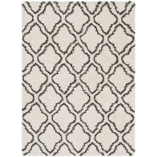 Online Reviews Lawhon Trellis Dark Brown/White Area Rug By House of Hampton