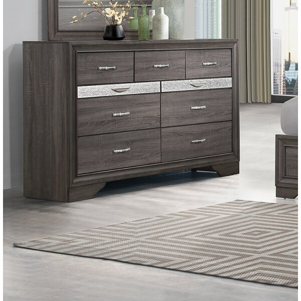 Cave Spring 9 Drawer Double Dresser by Everly Quinn