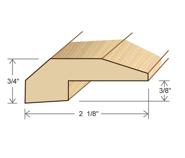 0.75 x 2.13 x 78 Red Oak Threshold by Moldings Online