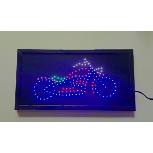 Electrical Motorcycle LED Sign by Creative Motion