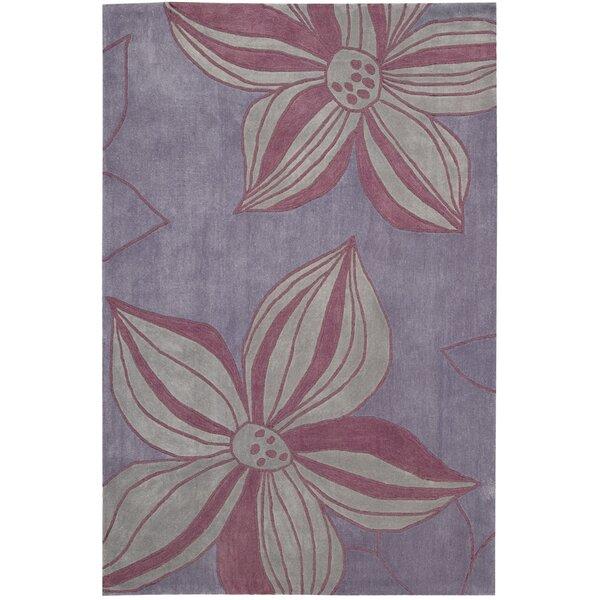 Gideon Hand-Tufted Violet Area Rug by Harriet Bee