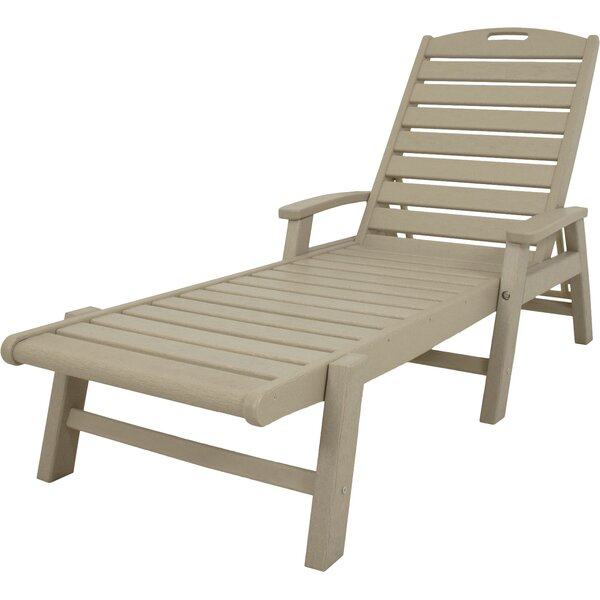 Yacht Club Chaise Lounge with Arms by Trex Outdoor