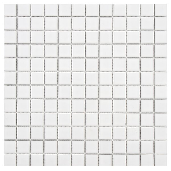 Arctic 0.91 x 0.91 Porcelain Mosaic Tile in White by EliteTile