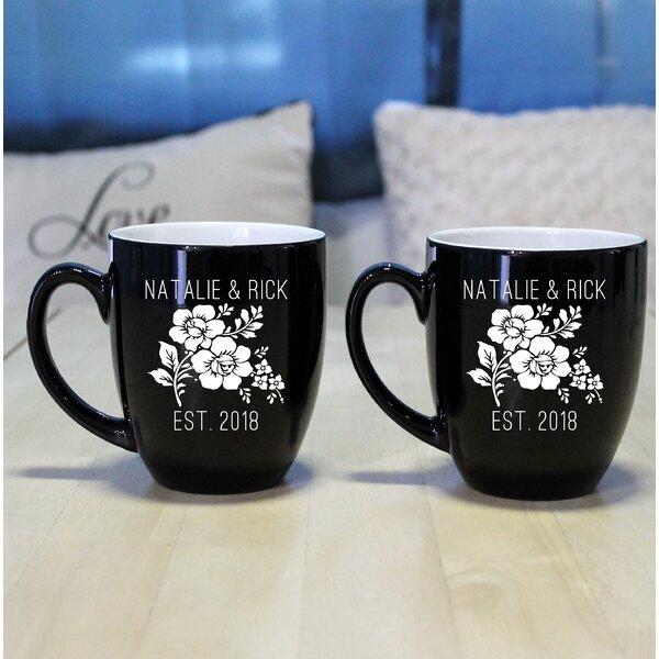 Peeples Bistro Coffee Mug (Set of 2) by Winston Porter