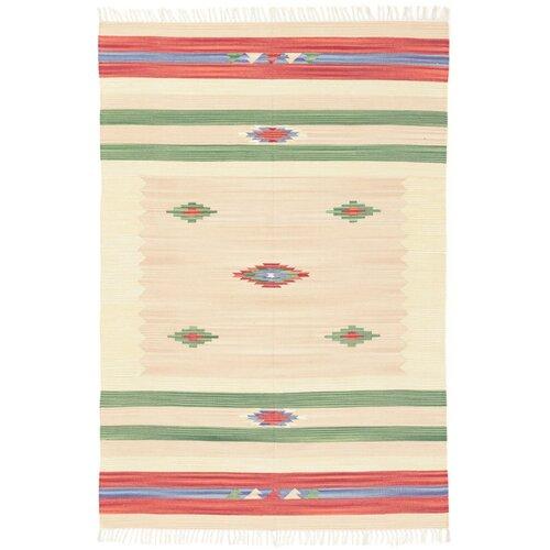 Sheredan Handmade Kilim Wool Beige Rug Bloomsbury Market Rug Size: Runner 75 x 250cm