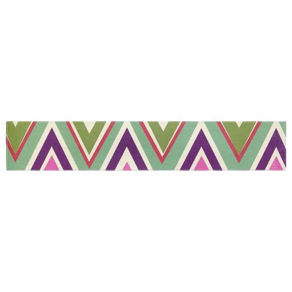 Heidi Jennings Clash of Chevron Table Runner by East Urban Home