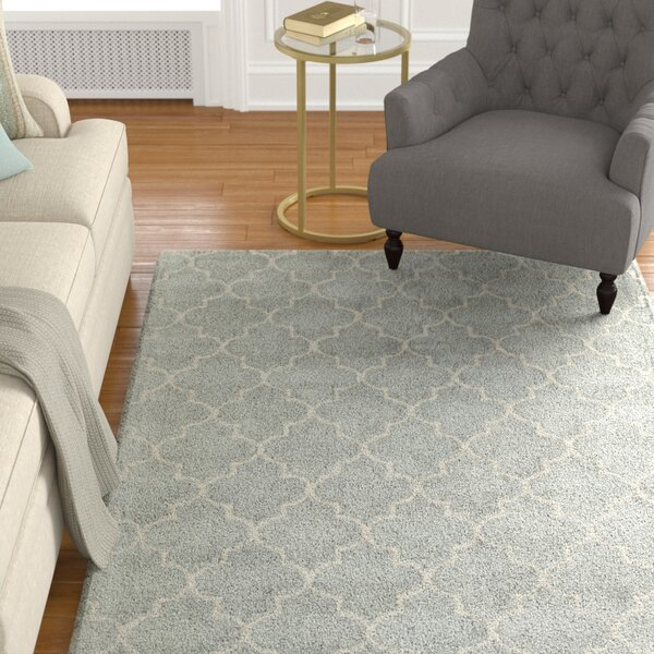 Barthelemy Geometric Hand-Tufted Wool Light Blue Area Rug by Darby Home Co