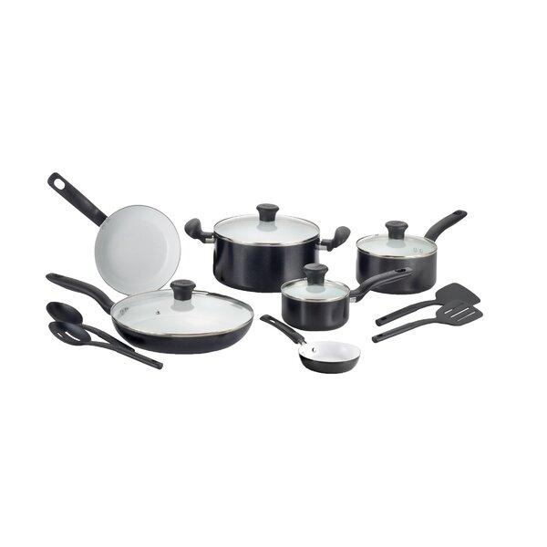 Initiatives Ceramic 14 Piece Non-Stick Cookware Se