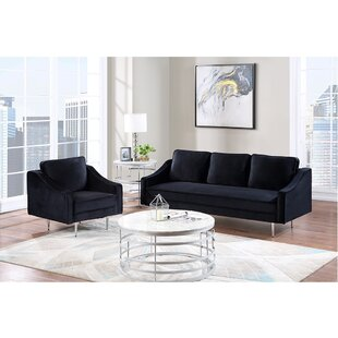 Hals 2 Piece Velvet Living Room Set by Everly Quinn