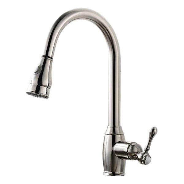 Pull Out Single Handle Kitchen Faucet By Comllen