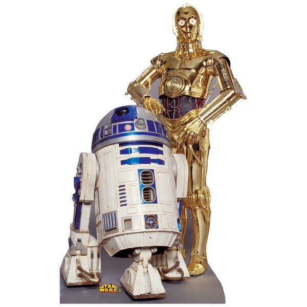 Star Wars R2-D2 & C-3P0 Life Size Cardboard Stand Up by Advanced Graphics