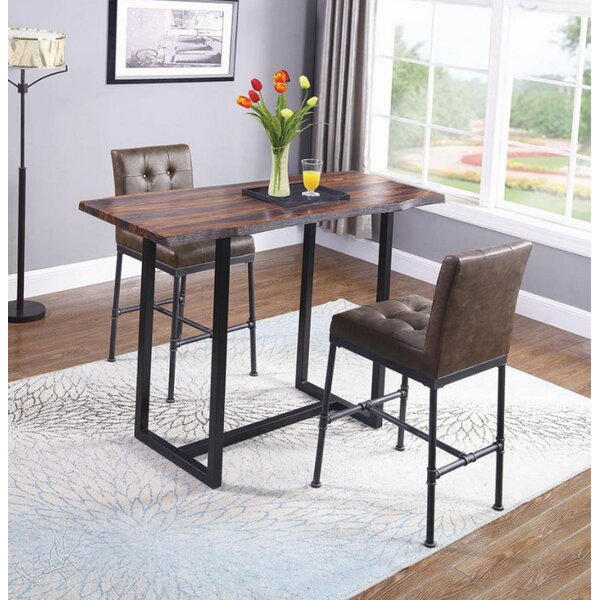 Brooke 3 Piece Pub Table Set by 17 Stories