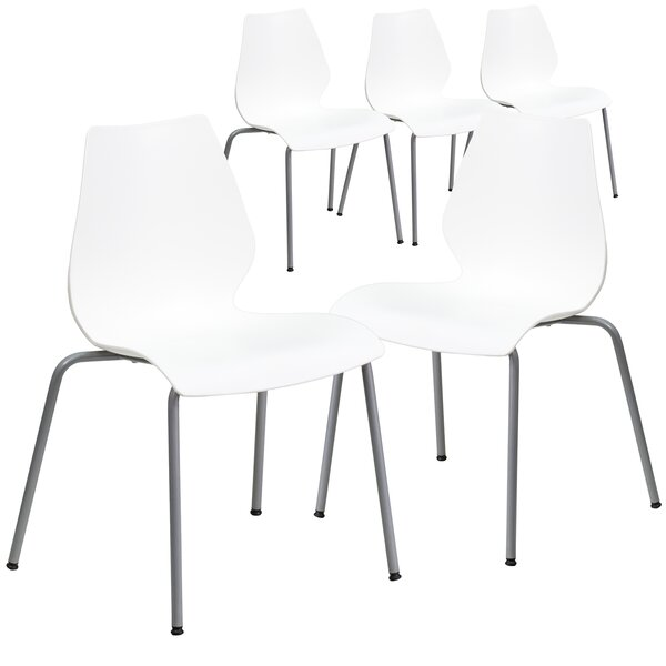 Pyron Armless Stacking Chair (Set of 5) by Latitud