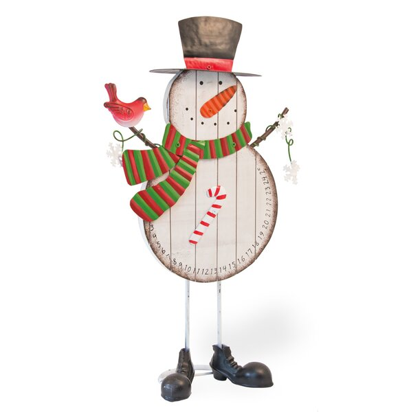 Standing Snowman Advent Calendar by The Holiday Aisle