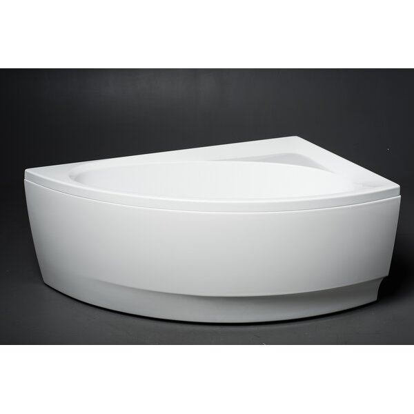 Idea 59 x 35.75 Soaking Bathtub by Aquatica