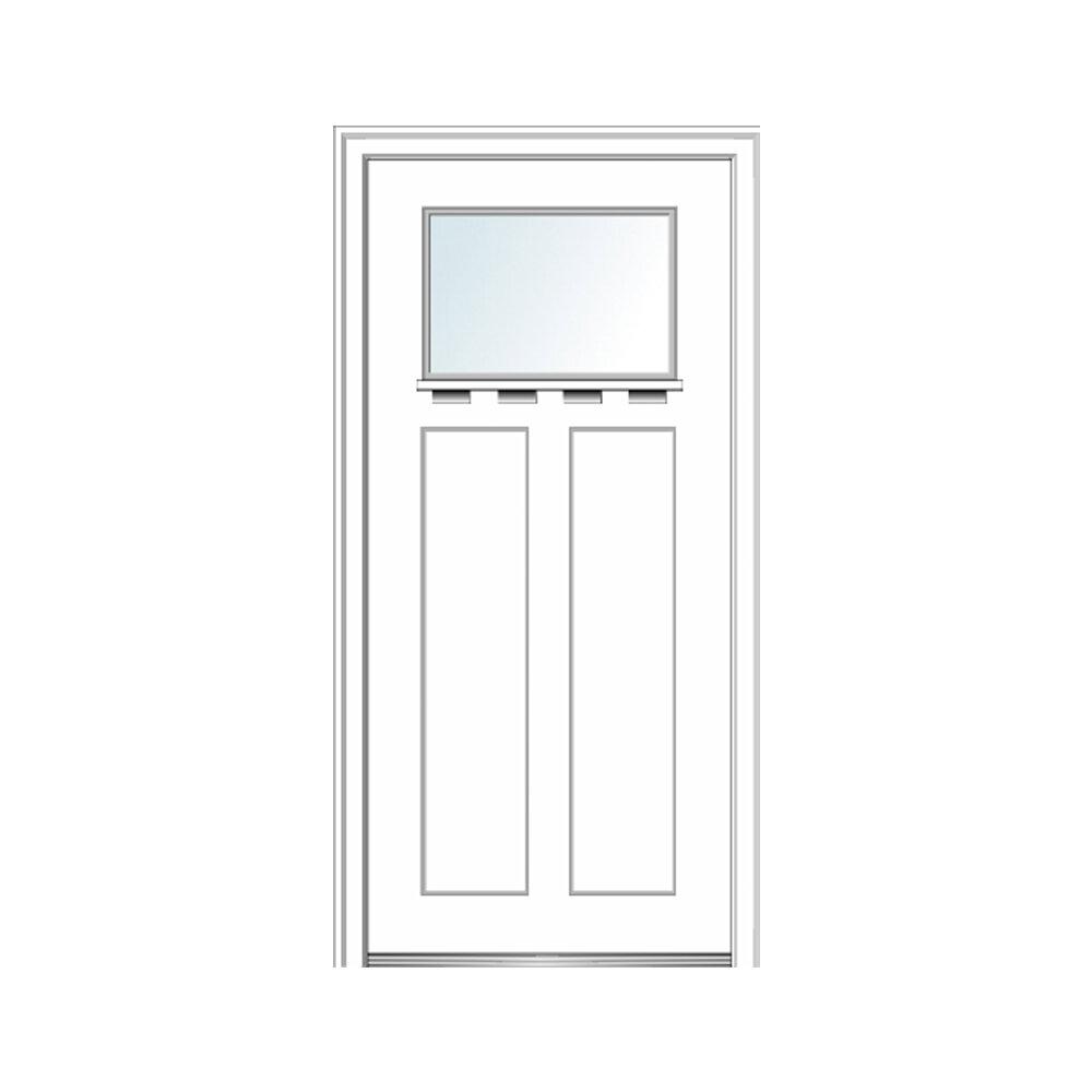 Verona Home Design Shaker Craftsman Smooth 2 Panel Fiberglass