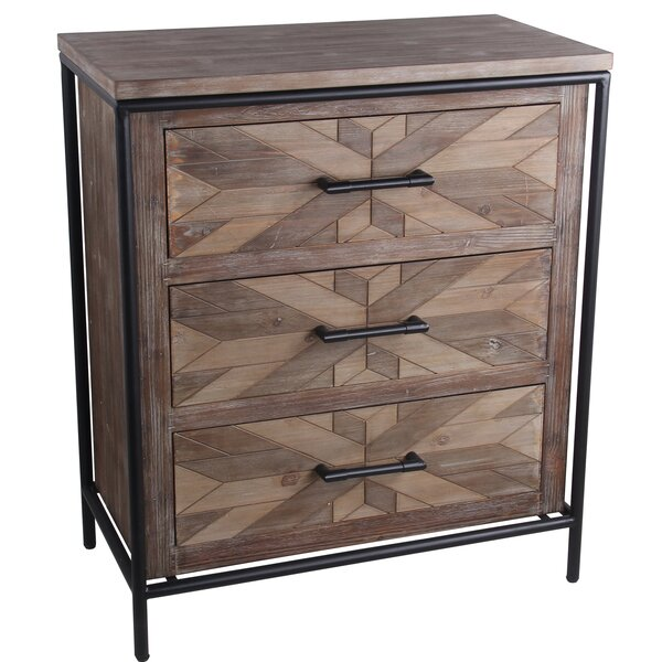 Olmeda 3 Drawer Accent Chest by Union Rustic