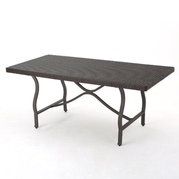 Palombo Wicker/Rattan Dining Table By Alcott Hill