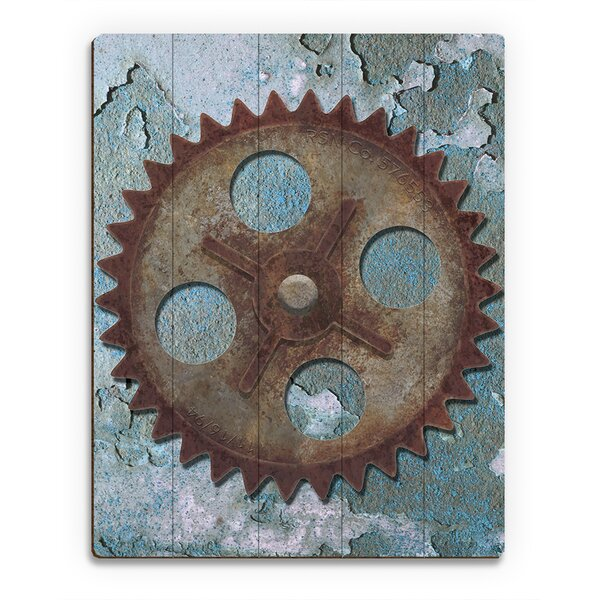 Lonely Gear Graphic Art on Plaque by Click Wall Art