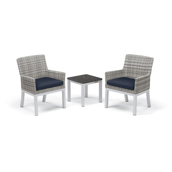 Caspian 3 Piece Seating Group with Cushions by Sol 72 Outdoor