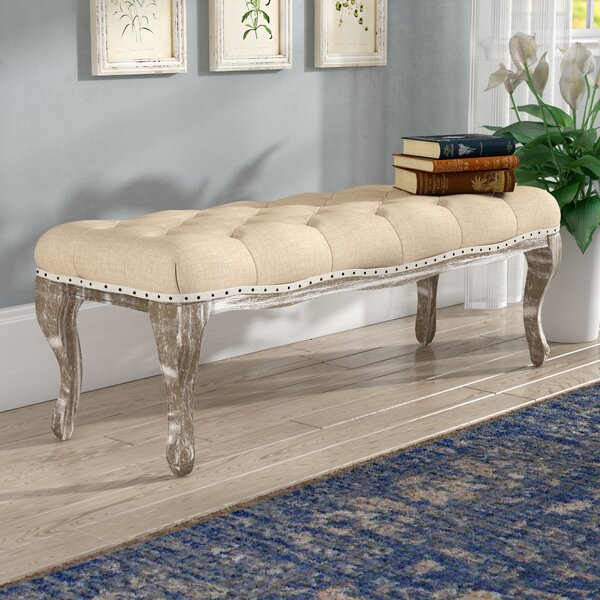 Toulouse Wood Bench by Lark Manor Lark Manor