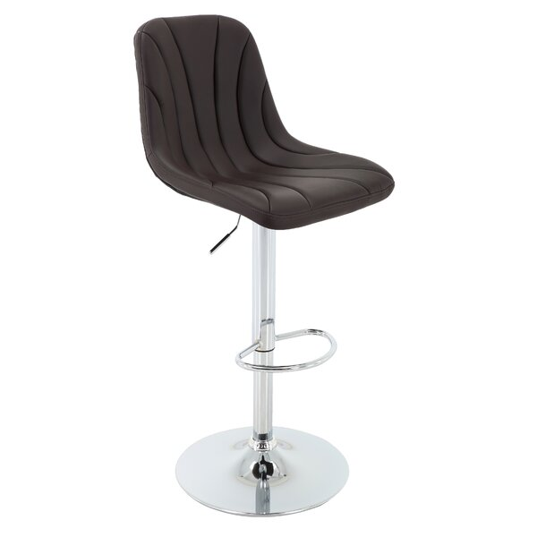Bering Adjustable Height Swivel Bar Stool by Orren Ellis Orren Ellis