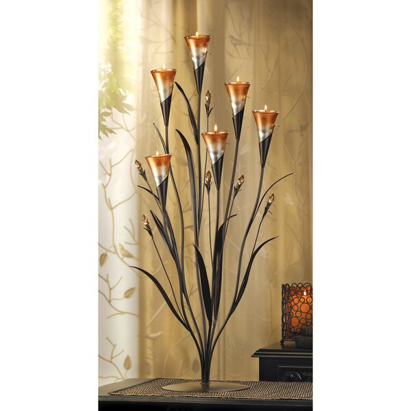Lily Blossoms Candle Holder by Fleur De Lis Living
