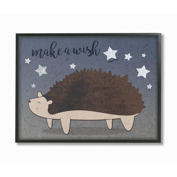 Kings Coach Hedgehog and Stars Framed Art by Harriet Bee