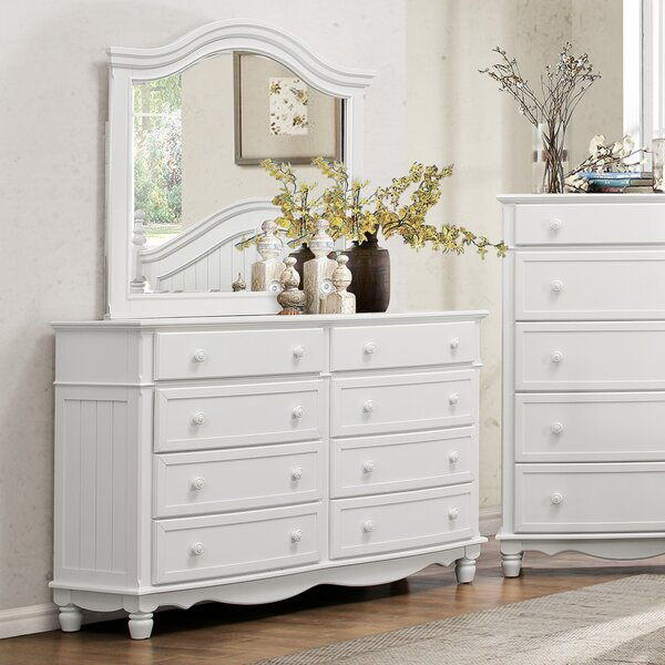 Alberta 8 Drawer Double Dresser with Mirror by Viv + Rae