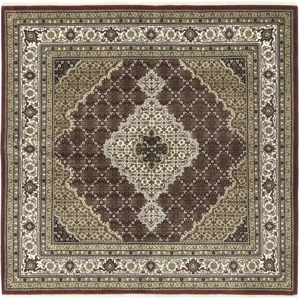 One-of-a-Kind Devante Hand-Knotted Wool Brown Indoor Area Rug by Isabelline