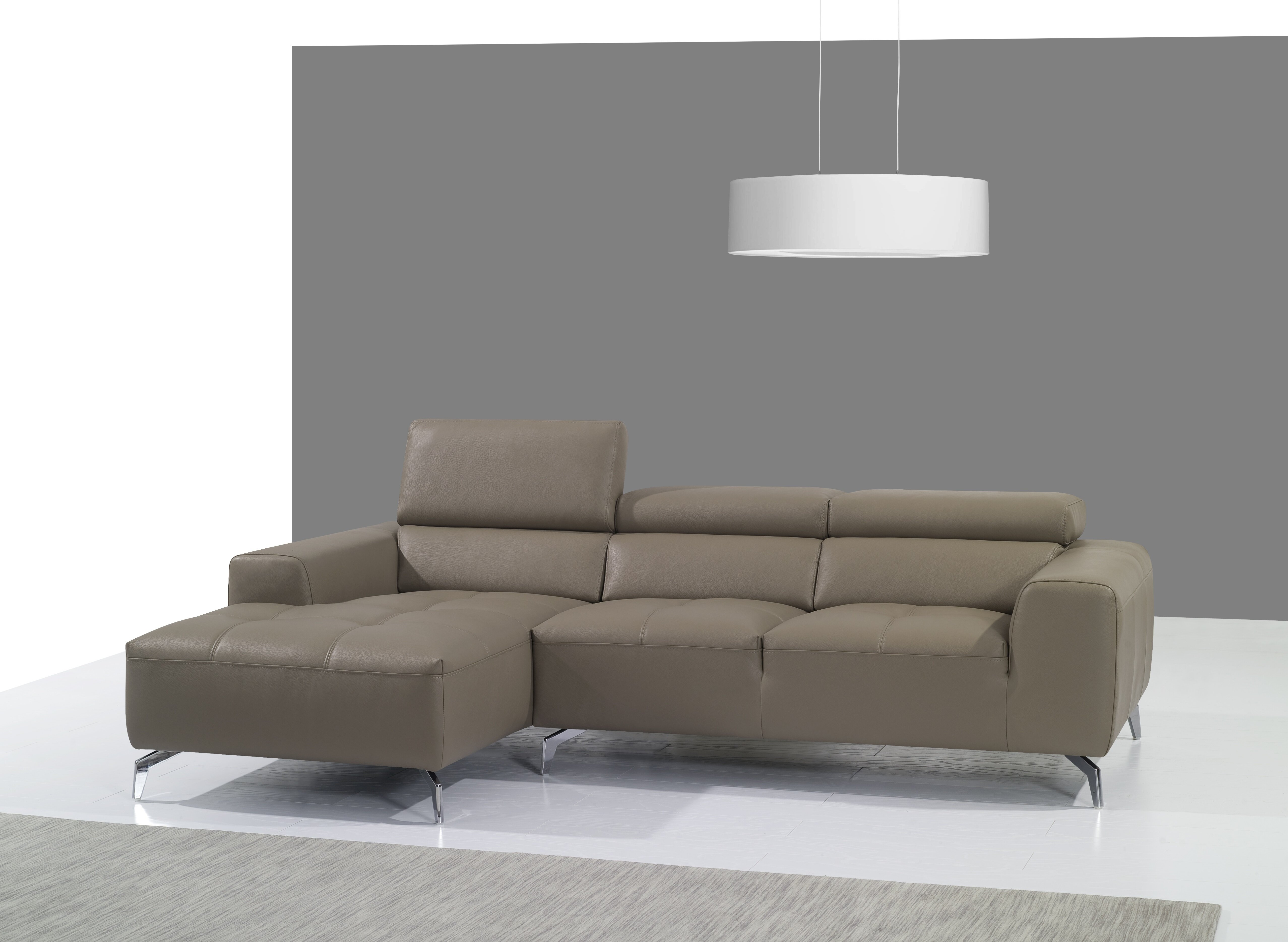 Incredible Orren Ellis Alden Leather Sectional Reviews Wayfair Gmtry Best Dining Table And Chair Ideas Images Gmtryco