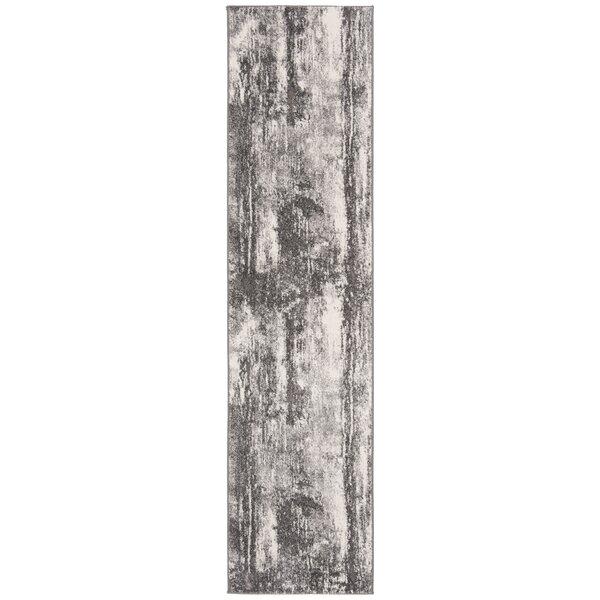 Elmina Dark Gray/Ivory Area Rug by Williston Forge