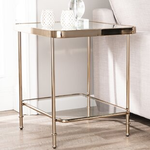 Savings Kimberlin Mirrored End Table By Mercer41