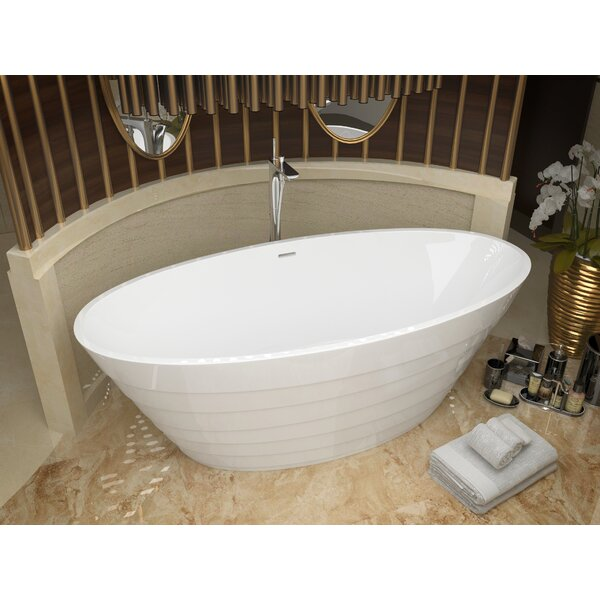 Nimbus 66.75 x 31 Freestanding Soaking Bathtub by ANZZI